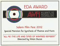 photo of award certificate