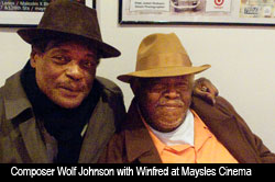 Winfred and Wolf at Maysles Cinema screening 1/12